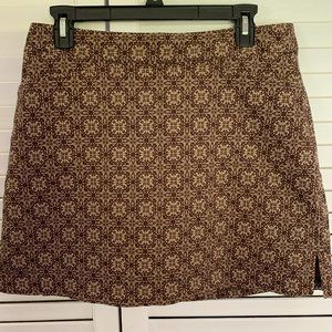 Lady Hagen Brown Print Skort with pockets SZ 8